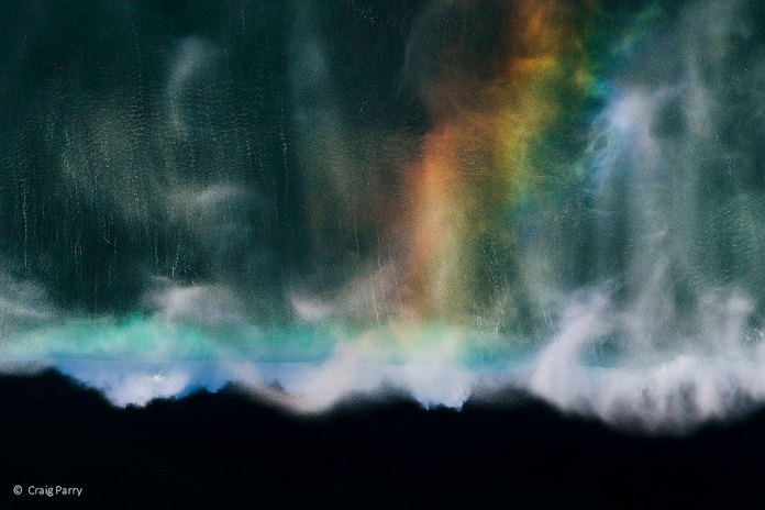 Craig Parry, based in Byron Bay, captured this landscape of rain falling in New South Wales as a rainbow emerges