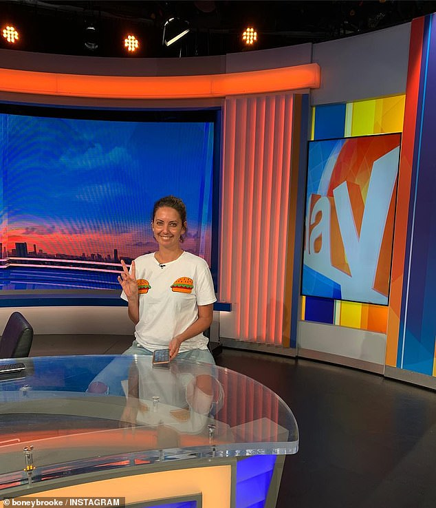 'Hey mum': The Today show's new entertainment reporter Brooke Boney shares the first snap from the set of the embattled breakfast TV program before her debut next week