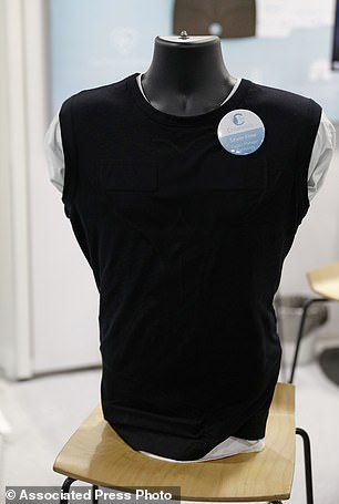 The vest attached to Chronolife is on display
