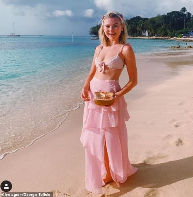 Sunkissed: She was also recently in Australia to take part in I'm A Celebrity Extra Camp, after winning the series in 2017