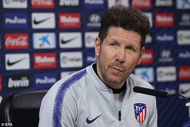 Atletico Madrid manager Diego Simeone refused to confirm or deny interest to Morata