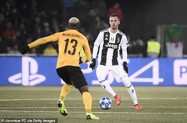 Bosnian Miralem Pjanic operates in midfield for Massimiliano Allegri's team