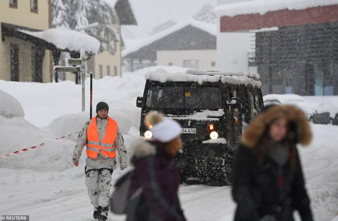 There were reports earlier this week that as many as 350 people were stuck and in need of food supplies in Berchtesgaden