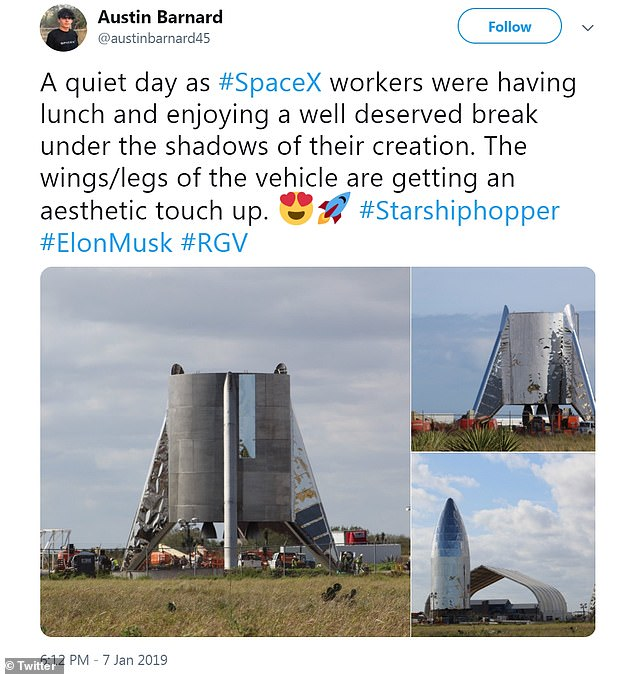 Elon Musk revealed his 'hopper' spaceship that could one day take man to the moon earlier this week and claims it could eventually take people to Mars