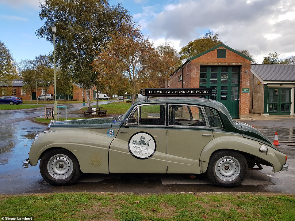 One of the more recent companies to become a member of Bicester Heritage is the Wriggly Monkey brewery, which has a tap room on site. It even has a mobile & # 39; Racing Bar & # 39; - the Armstrong Siddeley Sapphire depicting the history of Goodwood racing, which contains six barrels of beer