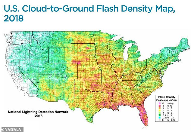 Vaisala is a global lightning detection network, which monitors total lightning activity, 24 hours a day, 365 days a year. They released their figures at the annual meeting of the American Meteorological Society in Phoenix this week