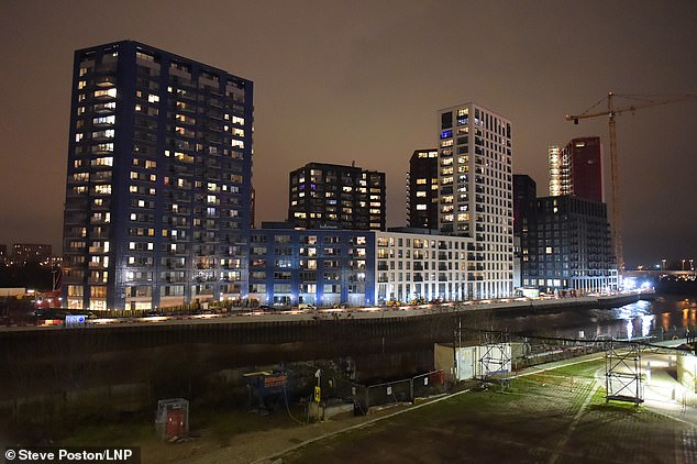 The luxury City Island development in London's docklands (pictured above)
