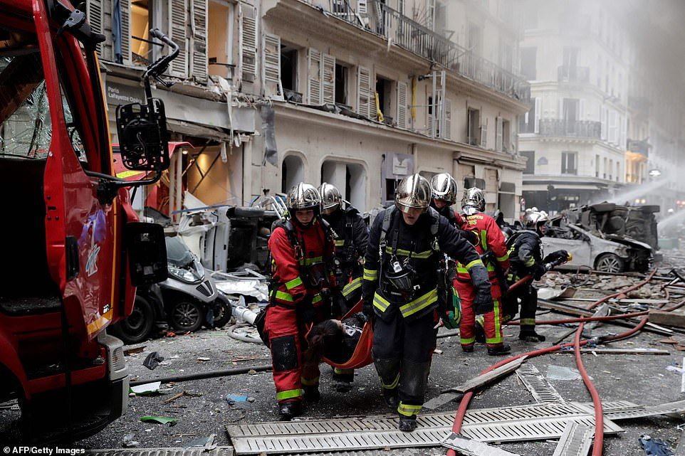 Multiple people have been injured following the blast which ripped through the bakery in central Paris early this morning