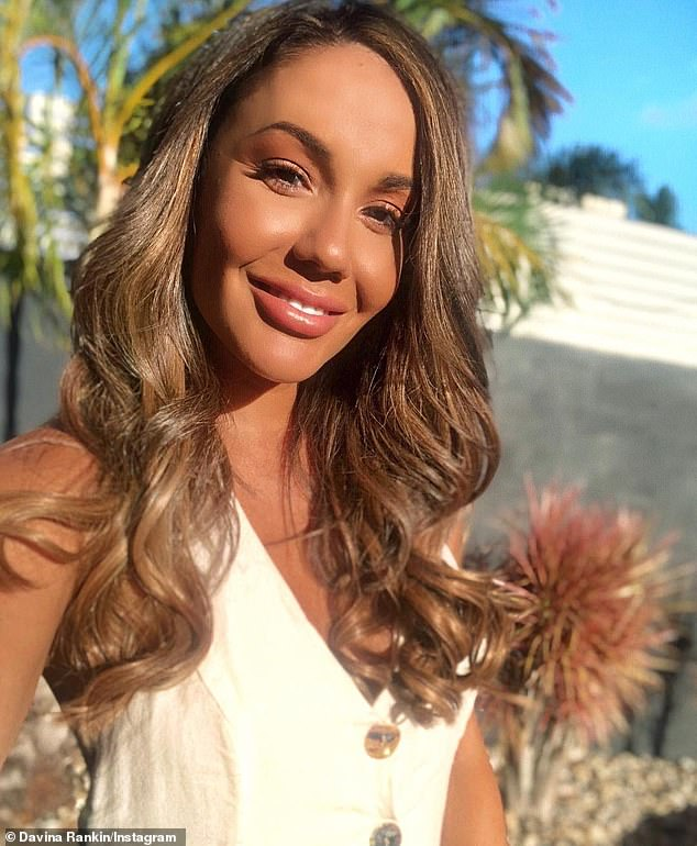 'Yo guys, I'M BRONDE': Davina was thrilled with the results and posted this selfie after her trip to the salon