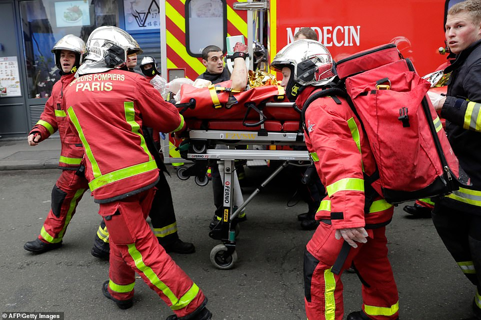 At least nine people have been seriously injured by the blast which ripped through a Paris bakery at breakfast time today