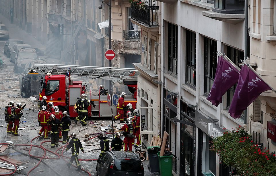 The blast ripped the front off the bakery and threw debris for several hundred metres in all directions