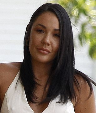 New Year, new 'do! MAFS star Davina Rankin reveals her stunning hair transformation as she dyes her raven locks and goes lighter... just days after celebrating her one-year anniversary with boyfriend Jaxon Manuel (pictured L, before, and R, after)