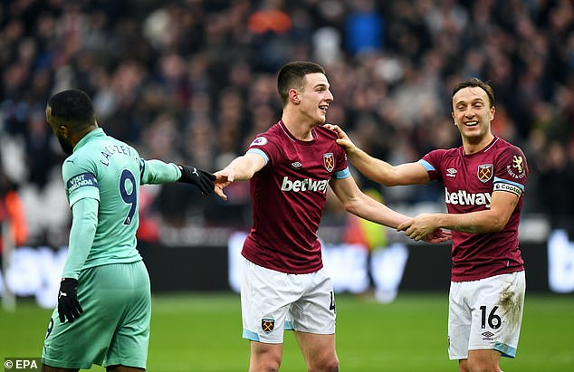 Captain Mark Noble continued with the teen's praise that recently signed a new deal
