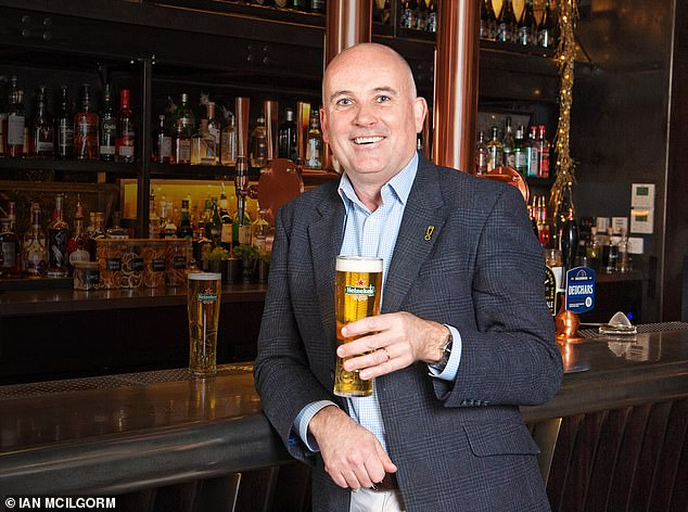 Zero tolerance: David Forde thinks that drinkers embrace alcohol-free beer when served in a brand glass