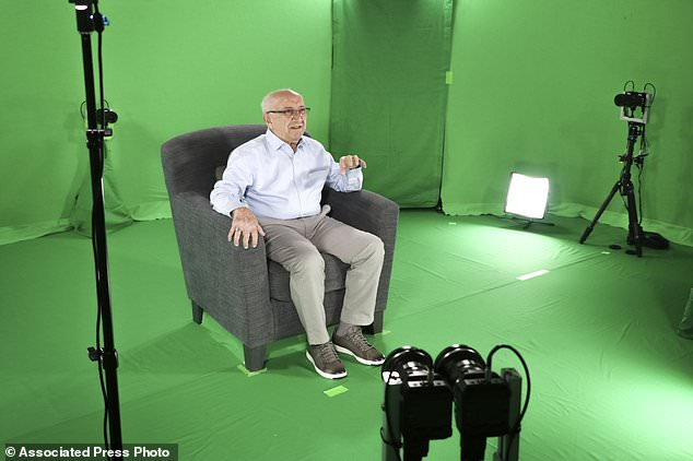 Recollections from survivors of the Holocaust are now being preserved so that people from future generations can interact with them. Survival stories from victims of the Nazi regime, are being transferred into holograms. Here,Max Glauben records his testimony