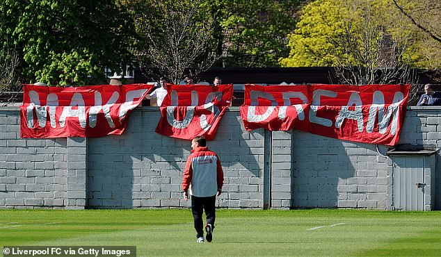 On the Melwood training ground in Liverpool, fans can easily view a session on the wall