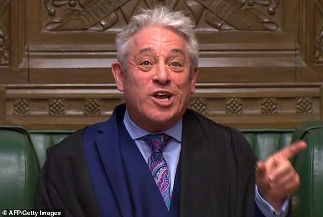 Commons Speaker John Bercow (pictured) secretly met Tory rebel Dominic Grieve just hours before allowing a vote of an amendment to the Brexit withdrawal bill, it has been revealed