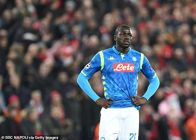 The club will probably wait until the summer to make a bid for Kalidou Koulibaly, which is in the back