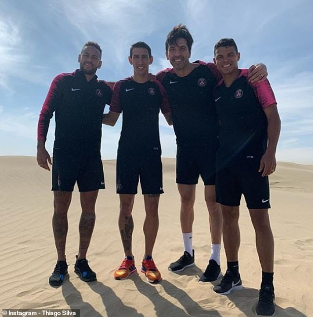 PSG's star players have traveled to Qatar for a four-day winter training camp in the sun