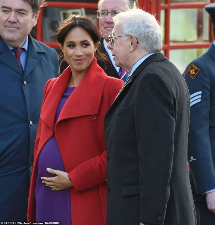 Meghan was glowing as she cradled her bump during this morning's visit to Hamilton Square in Birkenhead.Later they will visit Tomorrow's Women Wirral, an organisation that supports women in vulnerable circumstances