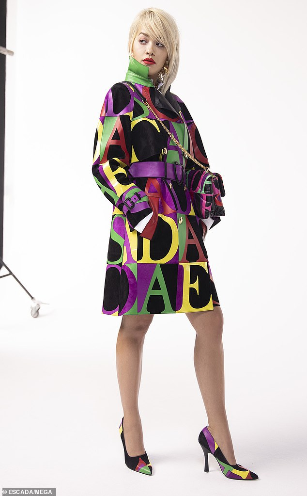 Turning heads: Rita Ora showcased her sensational style when posing in a collection of outfits for German fashion designer Escada
