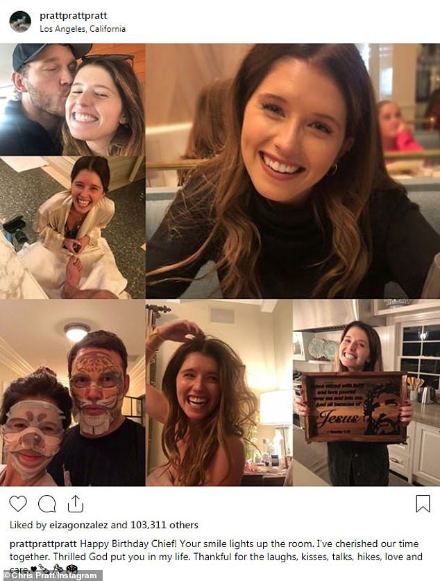 Happiness: The star of Avengers and the author are attending since June 2018. Pratt shared a sweet compilation of his future bride with his Instagram for his birthday in December