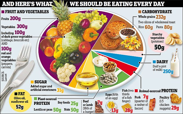 A radical 'planetary health diet' suggests people should replace nearly all meat and dairy with beans while doubling their vegetable intake. It was widely ridiculed by experts when it was announced in January. Its authors are now running a series of events to promote it