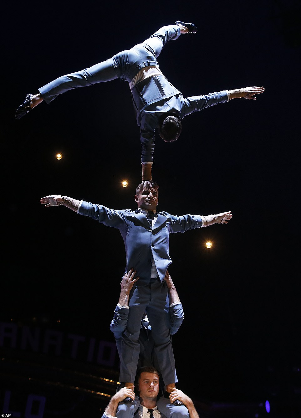 Quatuor Prilepin acrobats perform during the opening ceremony of the 43rd Monte-Carlo International Circus Festival in Monaco.The much-anticipated annual circus has become something of an institution in the principality and has been running since 1974, with this year's event running  until January 27