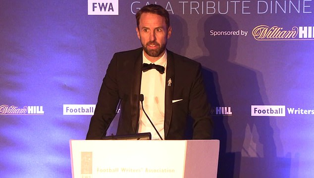 England manager Southgate paid tribute to Charles Sale at the Football Writers' Association tribute evening on Sunday night