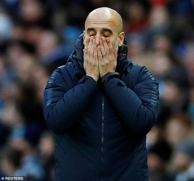 Pep Guardiola will see his side face Chelsea, Everton and Arsenal in the space on eight days