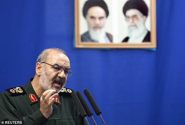 Brigadier General Hossein Salami warned Israel that any attempt to start a war with Iran would 'definitely lead to its own elimination' (file image)