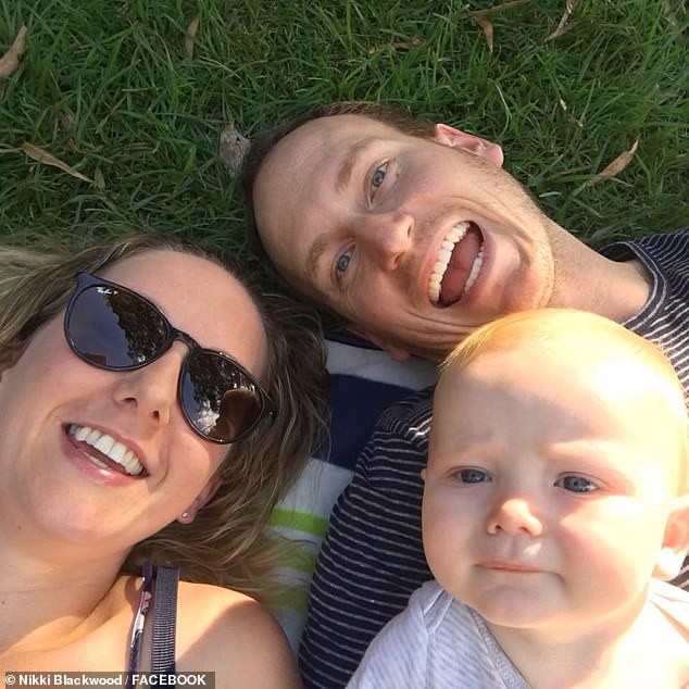 "Nikki Blackwood (left) says she was ""completely blinded"" by the diagnosis, which arrived while she was on maternity leave for her 14-month-old son Brodie"