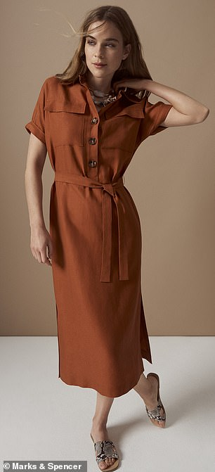 M&S Collection Dress £49.50; Necklace £22.50; Shoe £25