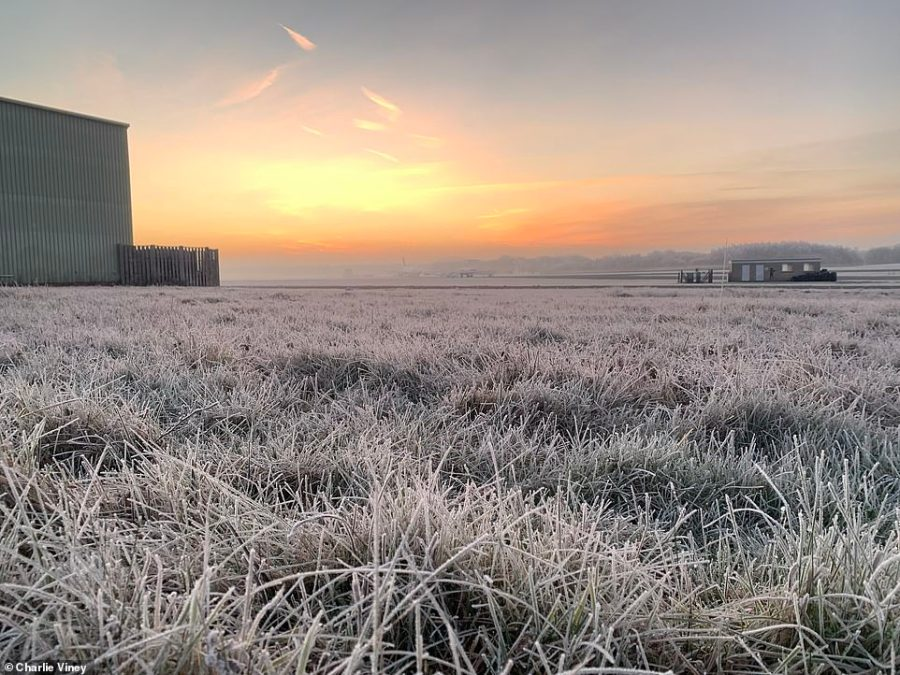 Charlie Viney took this picture of a chilly morning at Dunsfold in Waverley, Surrey