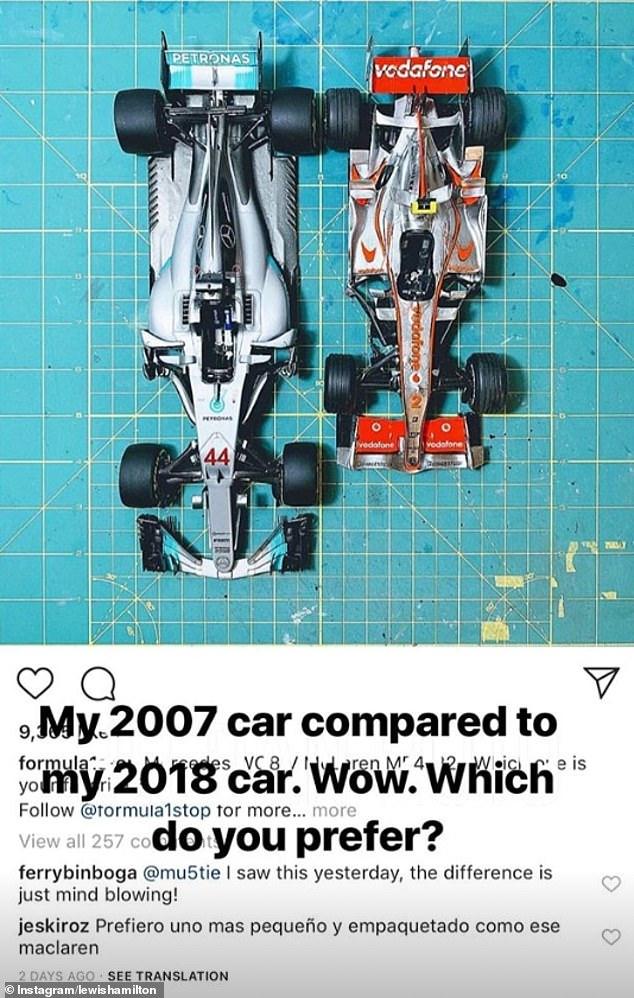 F1 Car Size Comparison : comparison, Lewis, Hamilton, Shares, Picture, Mercedes, First-ever, McLaren, Daily, Online