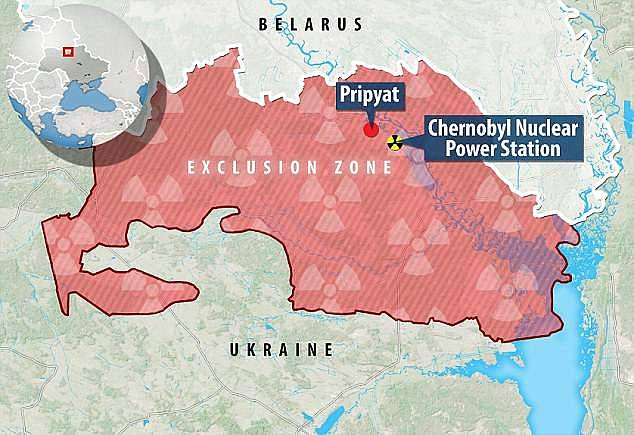 The CEZ is a 1,600 square mile zone, that was abandoned in 1986 after an explosion in a power plant. As the map shows, it sits in between Ukraine and Belarus, and used to be part of the Soviet Union. Wildlife has been spotted on the river in Pripyat, which is the nearest town to the explosion site