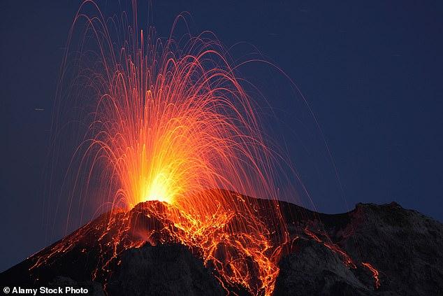 Das Große Sterben war ein äußerst katastrophales Ereignis, das durch einen massiven Vulkanausbruch ausgelöst wurde, der im heutigen Sibirien fast eine Million Jahre andauerte (Bild).