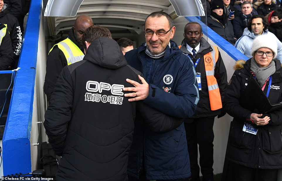 Chelsea manager Maurizio Sarri was under pressure before the match after a string of bad results in the Premier League