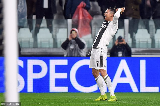 Ronaldo added his second and Juve's third of the evening, to become the top scorer in Italy