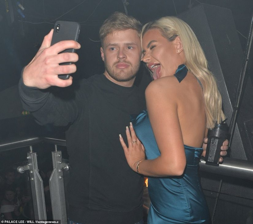 Selfie: Fans of the gorgeous girl wanted pictures for their social media with the bombshell