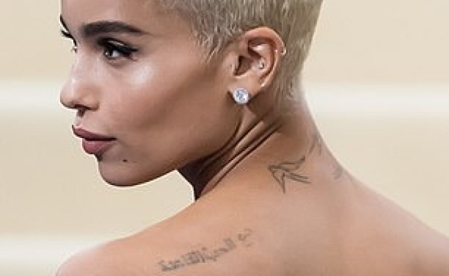 Zoe Kravitz Gets Two New Tattoos As Star Has The Word