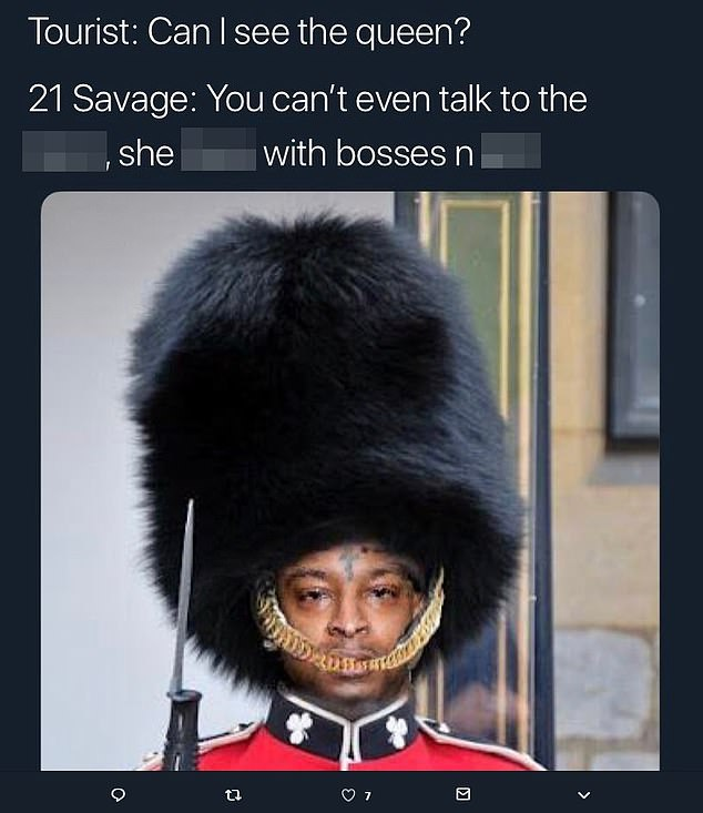 That S Sir Savage The 21st Rapper S Arrest Sparks Meme Frenzy But Fans Leap To His Defence Daily Mail Online