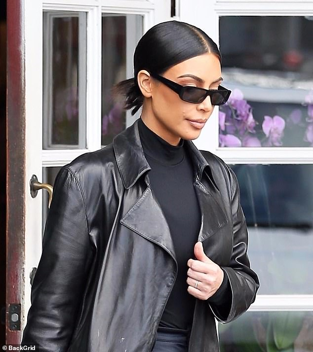 Nobody's perfect: KUWTK star Kim Kardashian West was seen with some skin issues while she was out on Monday but later took to Twitter to explain that she was suffering from a psoriasis flare up