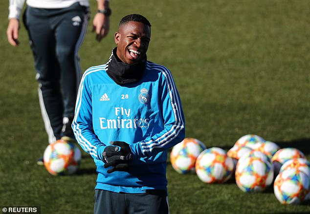 Brazilian starlet Vinicius Junior will be pushing for inclusion in the first leg in Barcelona