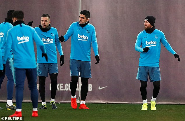 The Argentine joined the main group having been sidelined on Monday through a leg injury