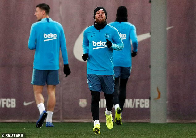 Barcelona were handed a boost on Tuesday as Lionel Messi was fit enough to return to training