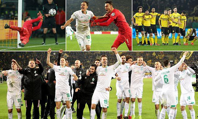 Borussia Dortmund 3-3 Werder Bremen AET (Bremen win 4-2 on pens):Kohfeldt's men reach