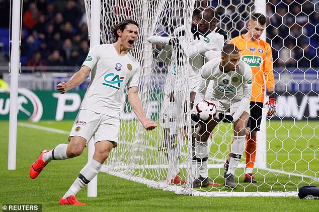 Edinson Cavani put Draxler through and let out a roar of relief for the French Cup holders
