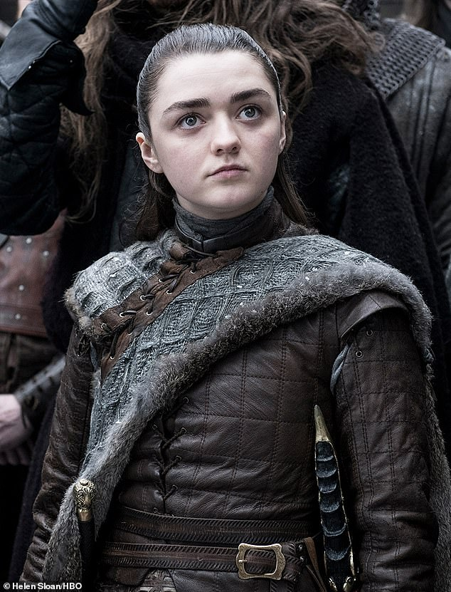 Skillful assassin: Arya, played by Maisie Williams, wears leather, her sword Needle seen hanging from her waist
