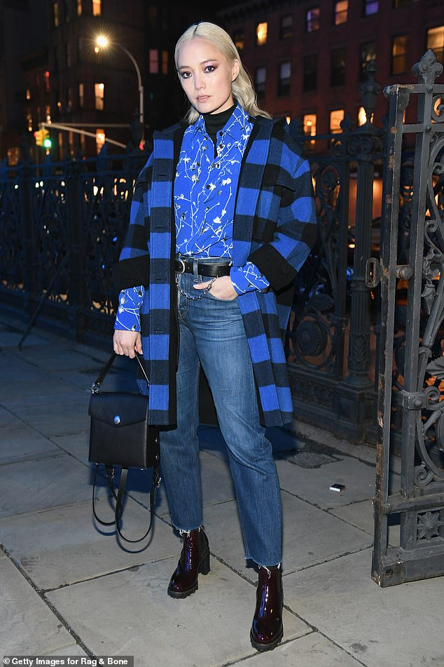 Got the blues? Meanwhile, Canadian-born French actress Pom Klementieff went with a blue theme for her arrival at the dinner